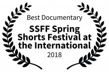 Best Documentary Award at the Shawna Shea Spring Shorts FF